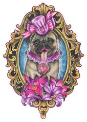 Pug Perfection by TattooSavage