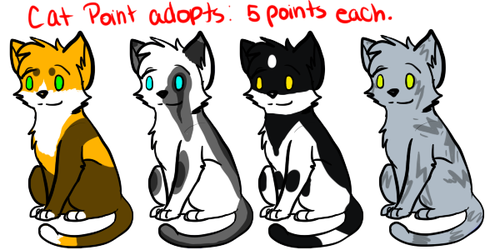 Cat adoptables 4 CLOSED by Spiritpie