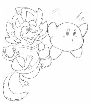 COMIC and Kirby by KERNOS-WITHERNBAT