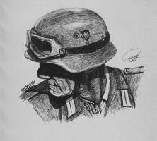 Old Wehmacht Blue Division Soldier by DeoKristady