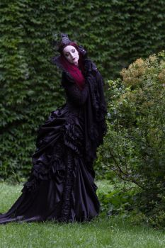 Stock - Listen to the darkness gothic woman purple by S-T-A-R-gazer