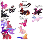SPECIES TYPES FOR DESIGNS! by lonely-eel