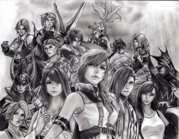 Dissidia 012 Cosmos's Warriors by leon7929