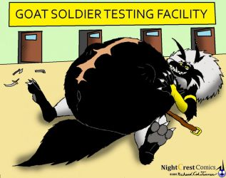 Goat Soldiers Go, Oh Nevermind by NightCrestComics