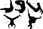 Parkour silhouettes by occasionallyxxx