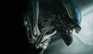 Speed painting number 6 of Alien Xenomorph by polkari