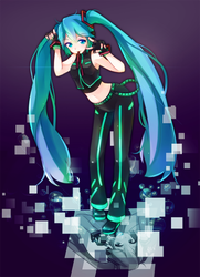 Hatsune Miku- Dancer by GenericMav