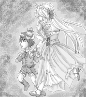 (Art Trade + NaPiDraMo)The Prince And The Queen by bunnyb133