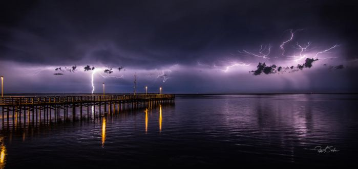 Anclote Lightning by WatchTower513