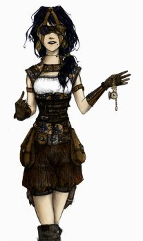 Steampunk Girl by MsLive