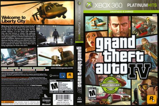 Grand Theft Auto IV Boxart (Xbox 360) by dakotaatokad