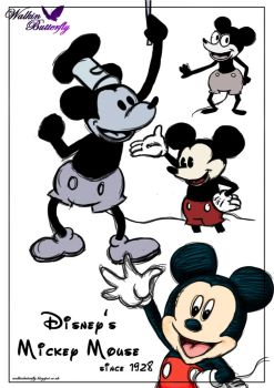 Mickey Mouse Evolution by Cherry-nichan