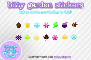 BiTTy GaRdeN STiCkErS by kittenbella