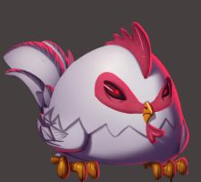 one face a day 128/365. Cucco (zelda series) by Dylean