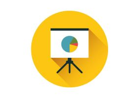 Presentation Whiteboard Flat Vector Icon by superawesomevectors