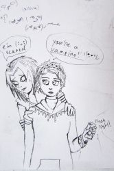 Kysen is a scared vamp by AnfelMeva