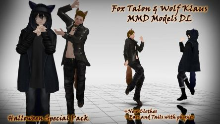 Halloween Pack: Fox Talon and Wolf Klaus MMD by KadajoGameOver