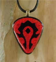 Wow Horde Inverted FusedGlass by FusedElegance