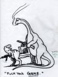 Dinosaurs with Guns by jsos