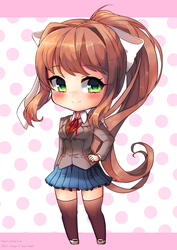 Monika - Doki Doki Literature Club by RockuSocku