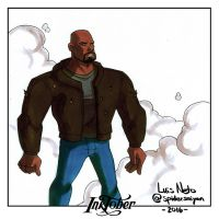 Inktober Day-11  Luke Cage by Spidersaiyan