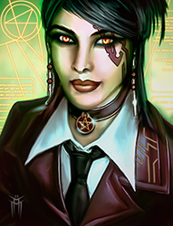 Shadowrun Returns - PC/NPC Character Portrait 01 by KARGAIN