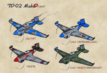 FD02 Mako D and Paint Schemes by Drake-TigerClaw