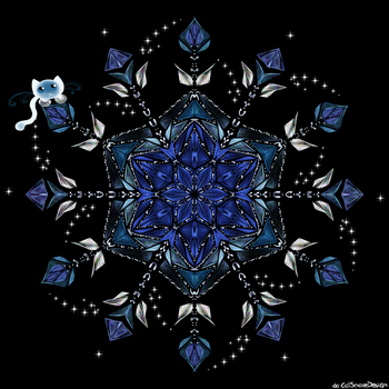 Blue Flower by CatSpaceDesign