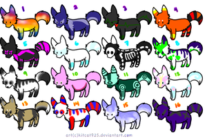 5 Point Wolf Adopts! -OPEN- by PlentyAdopts