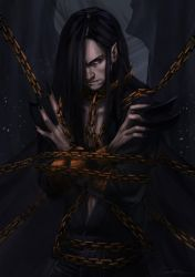 Melkor Chained in the Halls of Mandos by toherrys