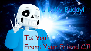 Valentines Day Card #8 (Marshmallow) by cjc728