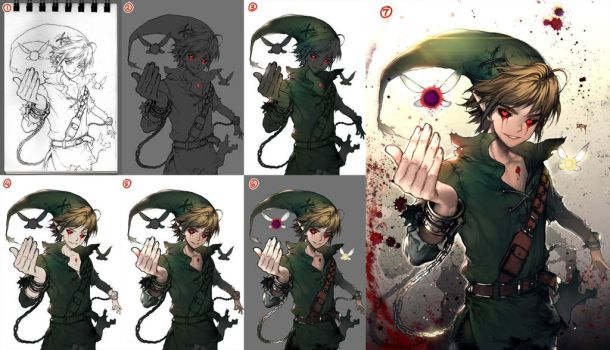 Ben drowned step by step by kawacy