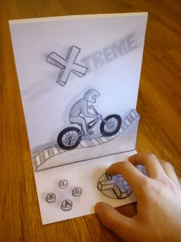 3D extreme cycling by artgel