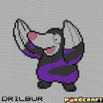 Pokecraft Drilbur by PkmnMc