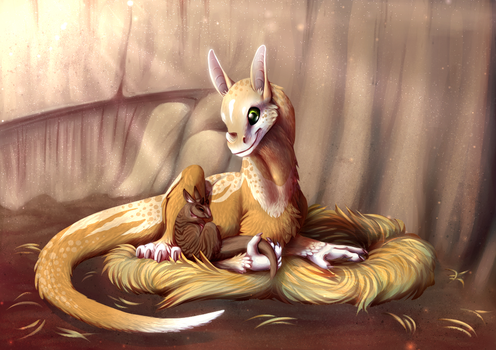 Sunny Snuggles by JadeRavenwing