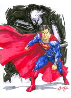 Man of Steel marker sketch by mistermoster