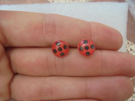 7Miraculous Ladybug earrings by Vavercraft