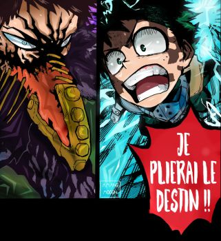 My hero Academia Hero 154 Ikuzu VS Overhaul Deku by Amanomoon