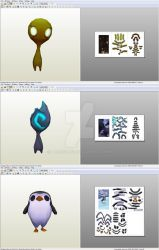 Bard: Followers Meeps - Papercraft model template