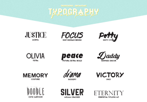 5th pack [ typography ] by tropicsong