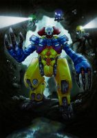 mecha pennywise color by adivider