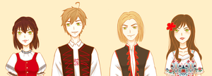 (APH) Folk! Visegrad 4 by himurayame125