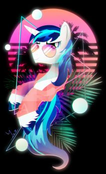Synthwave Shining Armor by II-Art