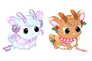 Double Deer Floof-Fluffs Auction (Closed!) by Sunshineshiny