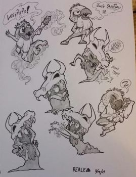Ludo Sketches by TheBealeCiphers