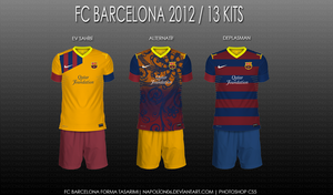 Barcelona FC 2012 / 13 Kits by napolion06