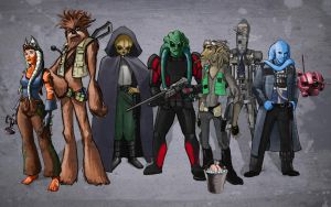 Star Wars - What Does A Scanner See -- characters by Garrenh