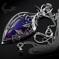 YNDRIALL - silver and druzy agate by LUNARIEEN