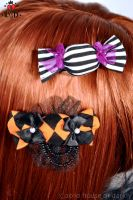 Halloween candy hair clips by brokensymphony