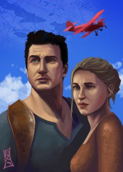 Uncharted 4: Drake and Elena by CODE-umb87